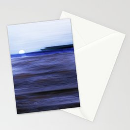 Distant Islands in the moonlight Seascape Stationery Cards