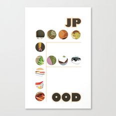Japanese Food Bubble Zoom Canvas Print