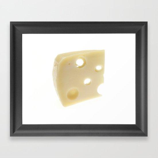 Swiss Cheese Framed Art Print