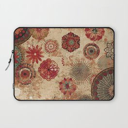 Bohemian Floral Moroccan Style Design Laptop Sleeve
