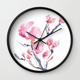 Japanese Magnolia Wall Clock
