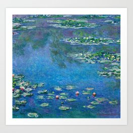 Claude Monet - Water Lilies Art Print