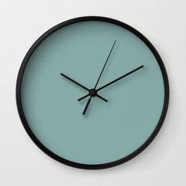 Solid Colors Series - Desaturated Light Cyan Wall Clock