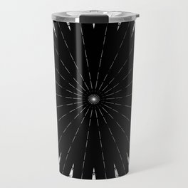 Black White mandala Design Travel Mug