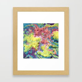 Lost in Thought; Fluid Abstract 56 Framed Art Print