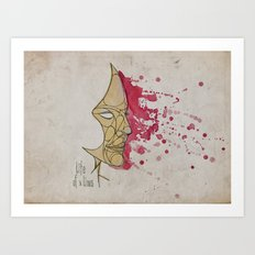 LadyPink Art Print