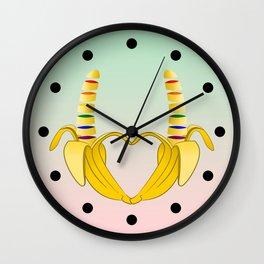Gay Pride Banana Heart Wall Clock