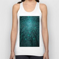 bed Tank Tops featuring One by One, the Infinite Stars Blossomed by soaring anchor designs