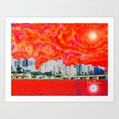 Miami Afternoon 2 Art Print