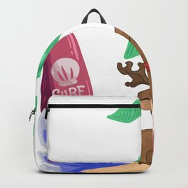 Reindeer Christmas holiday island Backpack