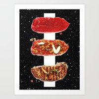 meat Art Prints featuring Meat by Danny Ivan