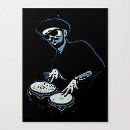 Bongo Beatin' Beatnik (Blue) Canvas Print