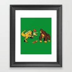 Boss vs Kong Framed Art Print
