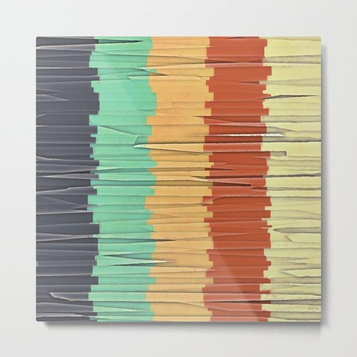 Shreds of Color Metal Print