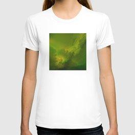 Fantasy Sci-Fi Green Galaxy Universe T-shirt