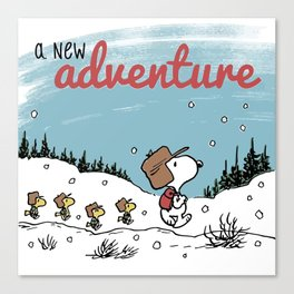 Snoopy a New Adventure Canvas Print