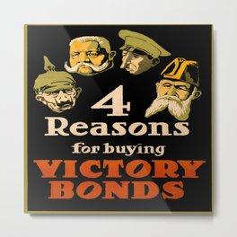 Vintage poster - Victory Bonds Metal Print