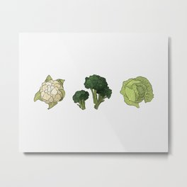 Green veggies Metal Print