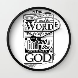 The Word of God Wall Clock