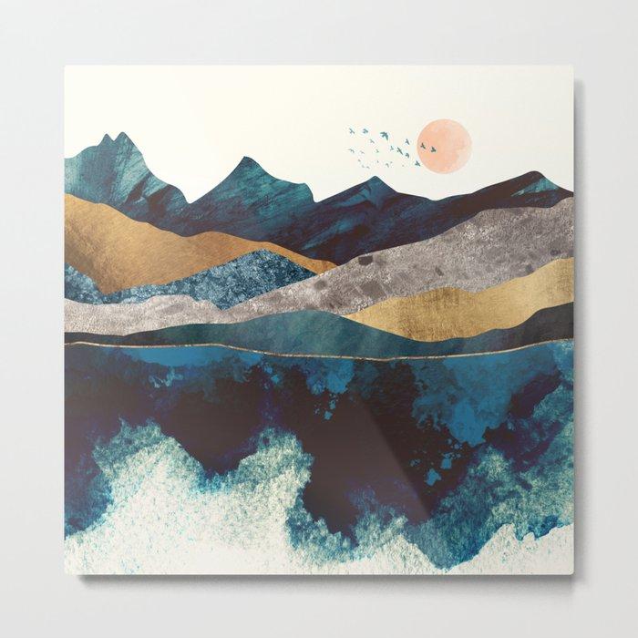Blue Mountain Reflection Metal Print