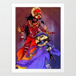 Taino Sun and Moon Art Print