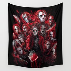 Jason Voorhees Friday the 13th Many faces of Wall Tapestry