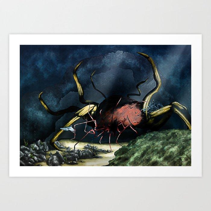 Deep Horror Art Print