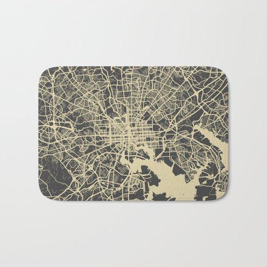 Baltimore map Bath Mat