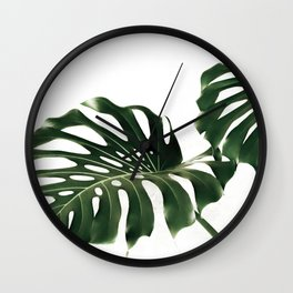 Minimalist Monstera Wall Clock