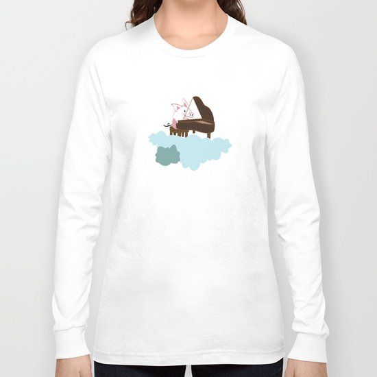 Pig Cloud-playing. Joy in the clouds collection Long Sleeve T-shirt