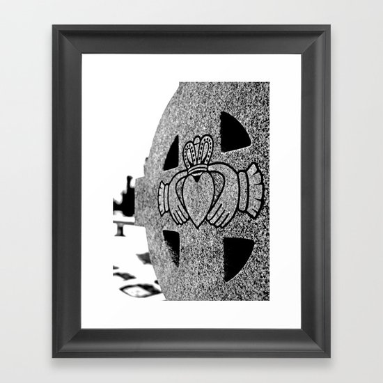 Winter Claddagh Framed Art Print