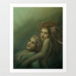 Love Rescue Me Art Print