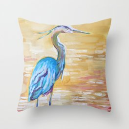 The Great Heron Throw Pillow