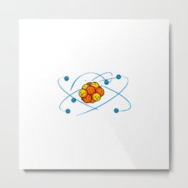 Orbital Model of the Carbon Atom Metal Print