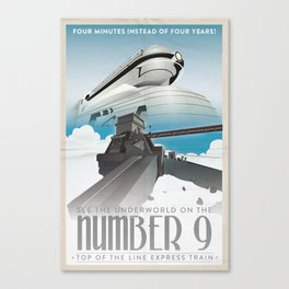 Grim Fandango Vintage Travel Posters - The Number Nine Canvas Print
