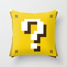 New Question Block Throw Pillow