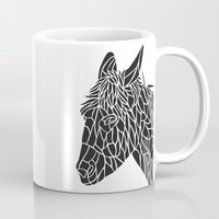 donkey Mugs featuring Donkey by Gemma Bullen Design