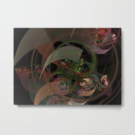 Abstract Fractal Spiral Metal Print