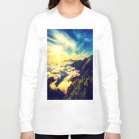mountains Long Sleeve T-shirts featuring Mountains. by 2sweet4words Designs