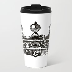 Royal Crown | Black and White Metal Travel Mug