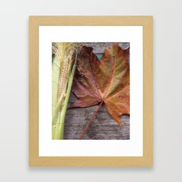 A Glimpse of autumn Framed Art Print