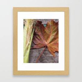 A Glimpse of autumn Framed Art Print