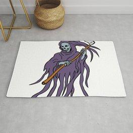 Grim Reaper Drawing Rug
