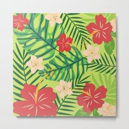 Tropical Life Design | Pattern Art 7 Metal Print