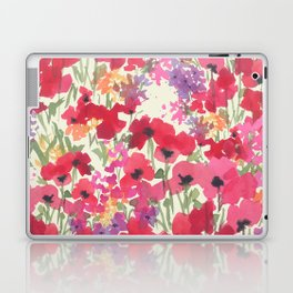Big Red Poppy Patch Laptop & iPad Skin