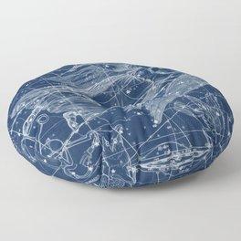 Virgo sky star map Floor Pillow