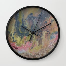 Day at the Beach Marble Wall Clock