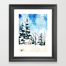 Flurries  Framed Art Print