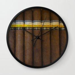 Cuban Cohibas Wall Clock