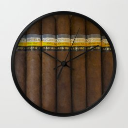 Cuban Cohibas Wall Clock